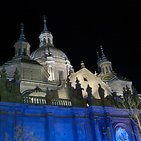 Christmas arrives at The Basilica-Cathedral of Our Lady of the Pillar in the city of Zaragoza,