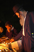 Israel, Galilee, Mount Meron, Jews praying during the lag b'omer celebrations at mount Meron. Lag B'Omer is a day for bonfire celebrations. The most famous is held at the village of Meron, near the northern city of Safed. May 2006