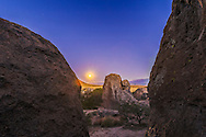 Full Moonrise at City of Rocks State Park, New Mexico, November 6, 2014. This is a High Dynamic Range stack of 7 exposures, from 1.6 seconds to 20 seconds at f/7.1 and ISO 400. Stacked and tone-mapped in Photoshop HDR Pro using Camera Raw 32-bit mode.
