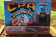 Farm sign in Alquizar, Havana Province, Cuba.