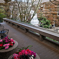 WA09584-00...WASHINGTON - Waterfall Garden Park, birth place of UPS, in downtown Seattle.