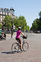cyclist Paris France in May 2008