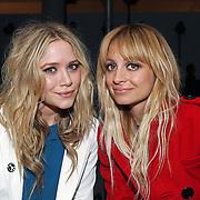 Ashley Olson and Nicole Richie at the DKNY New York Fashion Week show.