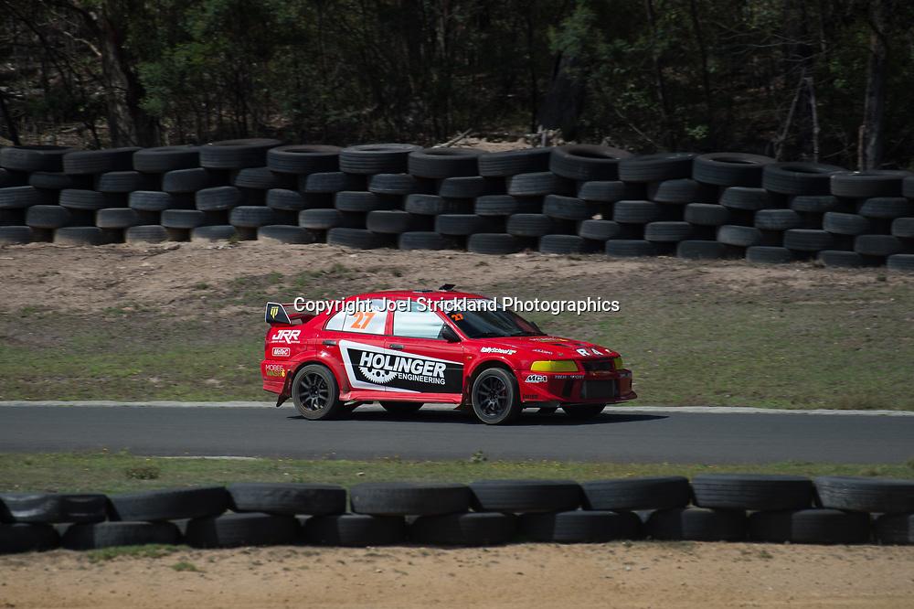 Will Orders - Mitsubishi Lancer Evolution - Rallycross Australia - Rnd 1 - February 26th 2017. MARULAN DIRT & TAR CIRCUITS, MARULAN, NSW