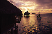Sunset paddle, Bora Bora Lagoon Resort, French Polynesia<br />