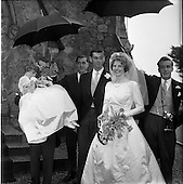 1963 - Wedding of Mr Michael Slazenger  and Miss Noreen Smith at the Presbyterian Church, Sandy