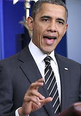 FEB 05 2013 Barack Obama briefs press at the White House