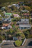 View of Selwyn Road from Exeter Street, Lyttelton, NZ