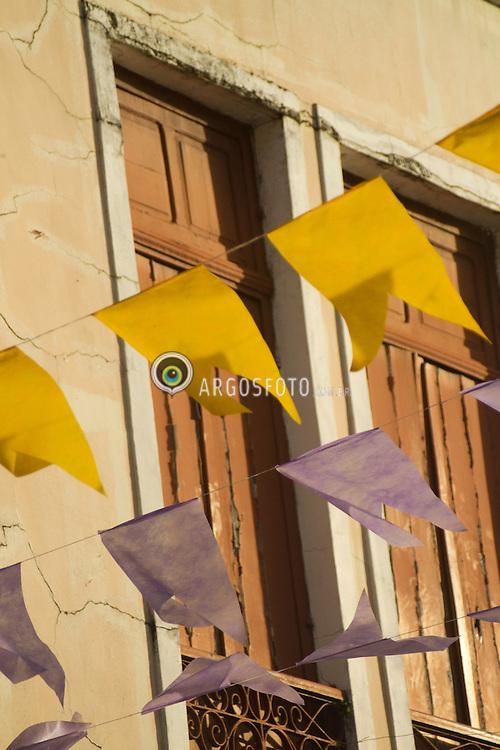 Sao Luis, MA - A Capital Maranhense, cheia de bandeirinhas por conta das festas do boi no mes de junho. O centro historico. A cidade e o ponto de partida da Rota das Emocoes,  roteiro que vai ate Fortaleza - CE./ Sao Luis, MA - The Capital of Maranhão, full of flags on behalf of the Ox celebrations in the month of June. The historic center. The city and the starting point of the route of emotions, script that goes up to Fortaleza - CE.