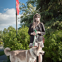 Becky Farleigh and her dog, Latte, Anchorage
