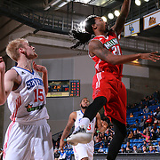 Maine Red Claws Guard LEVI RANDOLPH (20) drive to the basket in the first half of a NBA D-league regular season basketball game between the Delaware 87ers and the Maine Red Claws Friday, Feb. 05, 2016 at The Bob Carpenter Sports Convocation Center in Newark, DEL.