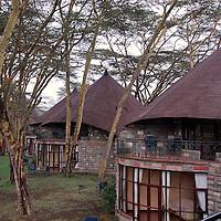 Luxury lodge on the shores of Lake Nakuru in Kenya.