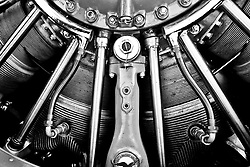Radial aircraft engine.<br /> <br /> Photo by Matt Cashore