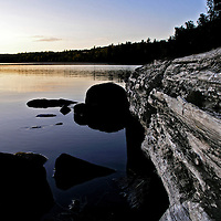 Camping in the Boundary Waters Canoe Area Wilderness in the Superior National Forest in Northern Minnesota.