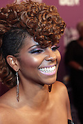 October 13, 2012- Bronx, NY: BET 106 & Park On-Air Personality Miss Mykie at the Black Girls Rock! Awards Red Carpet presented by BET Networks and sponsored by Chevy held at the Paradise Theater on October 13, 2012 in the Bronx, New York. BLACK GIRLS ROCK! Inc. is 501(c)3 non-profit youth empowerment and mentoring organization founded by DJ Beverly Bond, established to promote the arts for young women of color, as well as to encourage dialogue and analysis of the ways women of color are portrayed in the media.(Terrence Jennings)