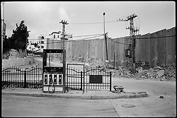 Israel's wall in the town of Abu Dhis in the occupied West Bank.