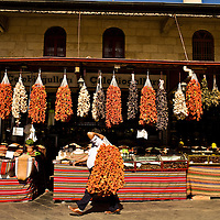Dried vegetables in Gaziantep, Turkey