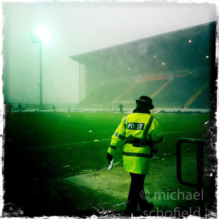 Falkirk FC stadium..Hipstamatic images taken on an Apple iPhone..©Michael Schofield.