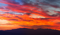 Late summer sunset over the mountains of Utah Valley.