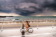The road bridge across Bear Cut, between Virginia Key and Key Biscayne, on a stormy afternoon.<br /> <br /> WATERMARKS WILL NOT APPEAR ON PRINTS OR LICENSED IMAGES.