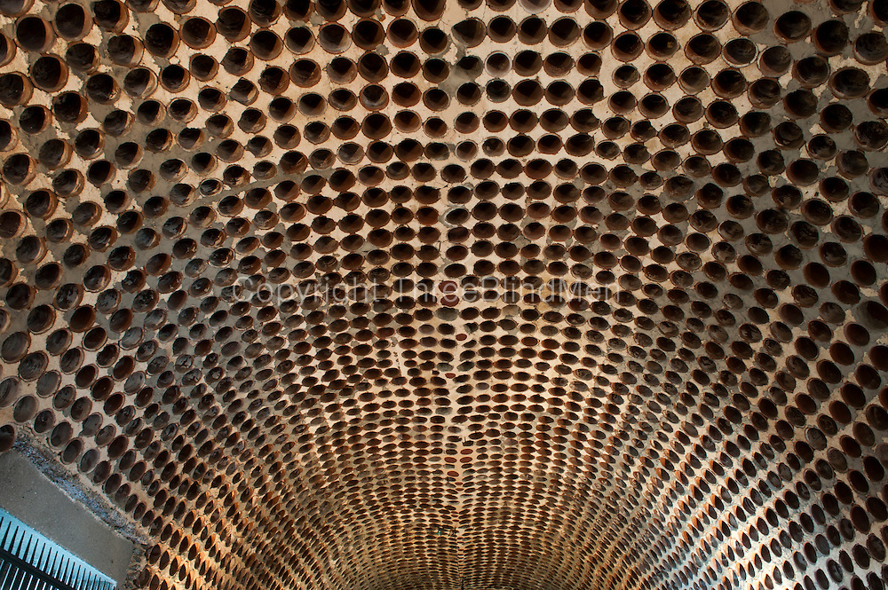 Vaulted ceiling of Moulin Casse gallery. First designed as a house for Peter White  by Sri Lankan architect Geoffrey Bawa.