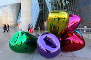 "Jeff Koon's ""Tulips"" sculpture that sits on the balcony of the Guggenheim Museum in Bilbao"