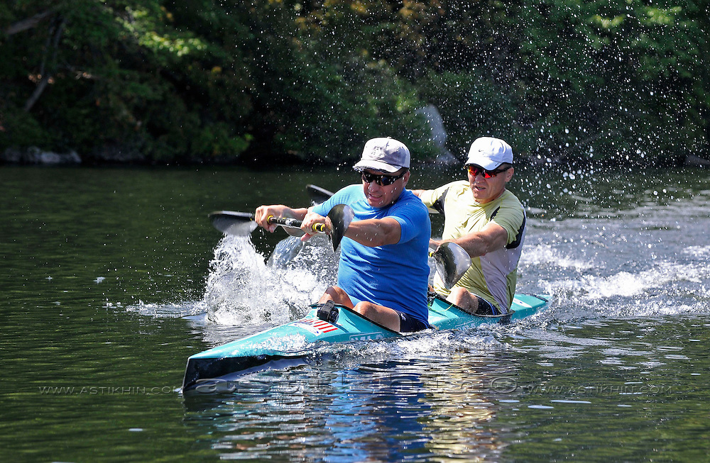 Speed on kayak K-2 by Vytas Rudzinskas and Aleksas Ambotas