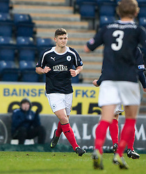 Falkirk's Stewart Murdoch (6) cele scoring the first goal from the penalty spot..half time : Falkirk v Cowdenbeath, 15/12/2012..©Michael Schofield.