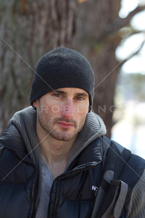handsome rugged man outdoors by a treeHandsome Rugged Man