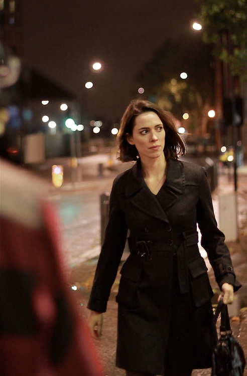 Actress Rebecca Hall on set of short film 'Ruminate'. <br />