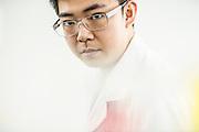 CHINA / Shenzhen <br /> <br /> BGI (Beijing Genomics Institute ) , Shenzhen Main Headquarter / Zhao Bowen, 20, Project Director at BGI <br /> <br /> &copy; Daniele Mattioli for D Repubblica Magazine
