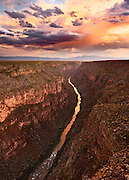 A monsoon sky over the Rio Grande Gorge near Taos, New Mexico.