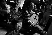 Music in the park, Kunming, China. Students from Memphis in Chinese Summer Camp in Beijing and Kunming China. Confucius Institute in Memphis.