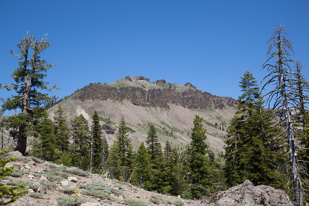 """""""Castle Peak 1"""" - Photograph of Castle Peak, a mountain in the Tahoe National Forest, near the Pacific Crest Trail."""