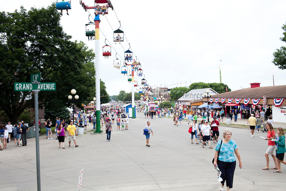 The Iowa State Fair on Friday, August 12, 2011 in Des Moines, IA.