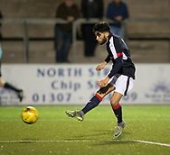 Dundee&rsquo;s Faissal El Bakhtaoui scores his side's second goal - Forfar Athletic v Dundee, Martyn Fotheringham testimonial at Station Park, Forfar.Photo: David Young<br /> <br />  - &copy; David Young - www.davidyoungphoto.co.uk - email: davidyoungphoto@gmail.com