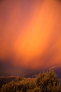 Last light over Taos, New Mexico.