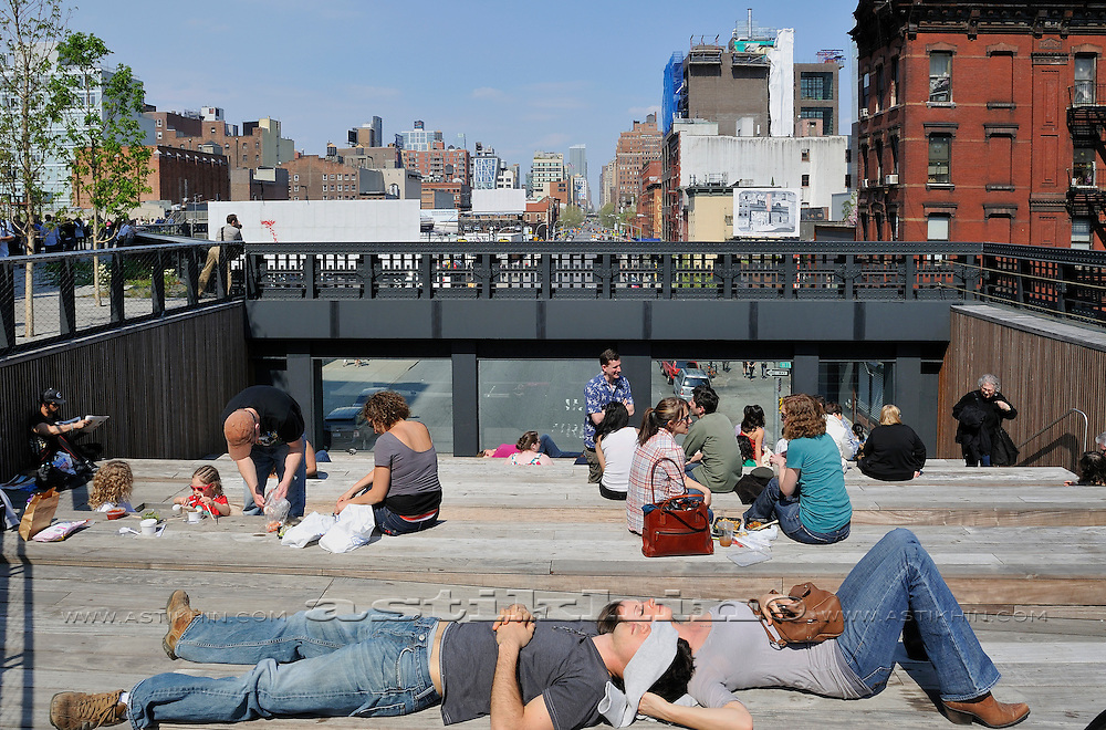 Rest area on High Line Park