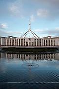 Australian Parliment House Canberra. Australian Parliament House at dawn.