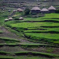 huts near the Guassa Plateau, Ethiopia