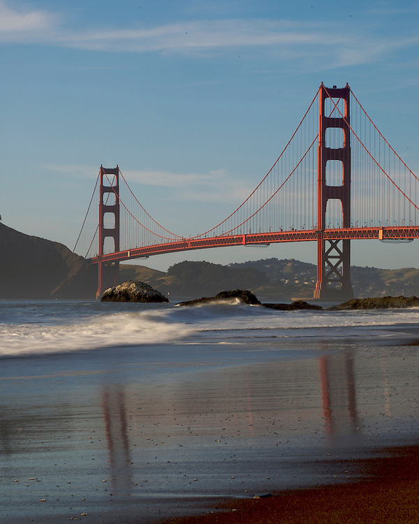 A view of Golden Gate Bridge from Baker Beach in San Francisco.Mandatory Credit: Dinno Kovic / Dinno Kovic Photography