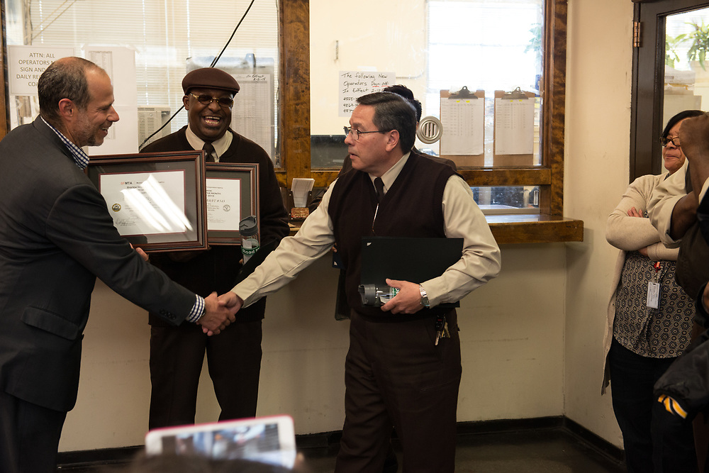 System Wide Operator of the Month Ceremony at Kirkland Division | February 27, 2015