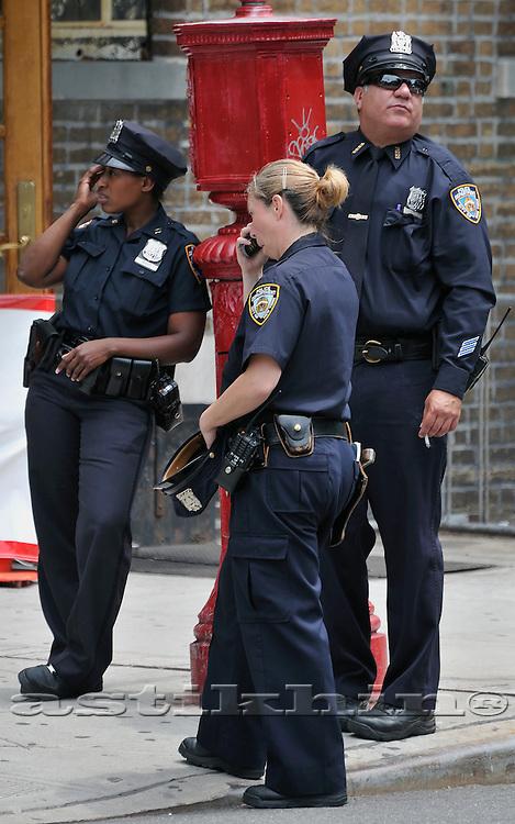 policewoman and policeman