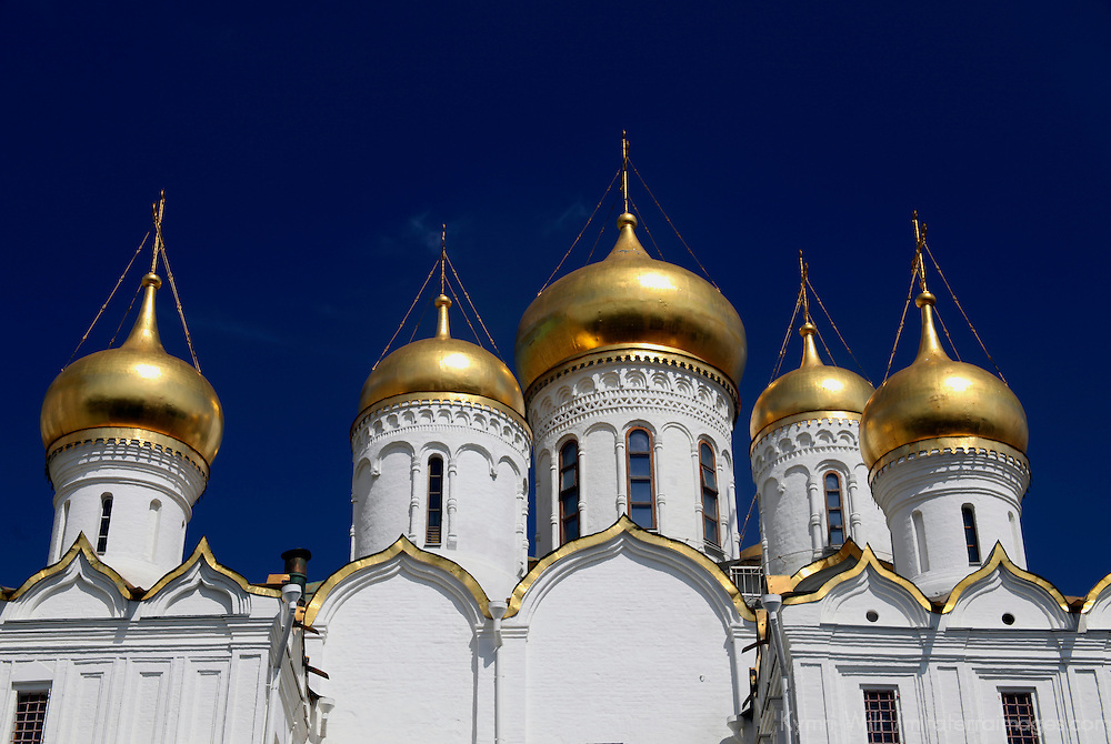 Europe, Russia, Moscow. Annunciation Cathedral of Moscow's Kremlin.
