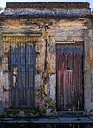House ruins in Cardenas, Matanzas, Cuba.