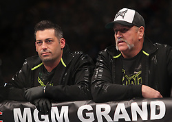 Las Vegas, NV - December 29, 2012: Mike Constantino and Mike Miller at UFC 155 at MGM Grand Garden Arena in Las Vegas, Nevada.