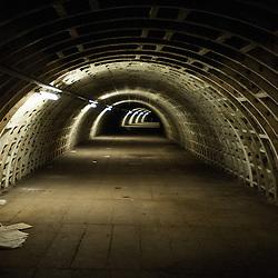 London, UK - 21 February 2014: he Zero Carbon Food - Growing Underground tunnels.