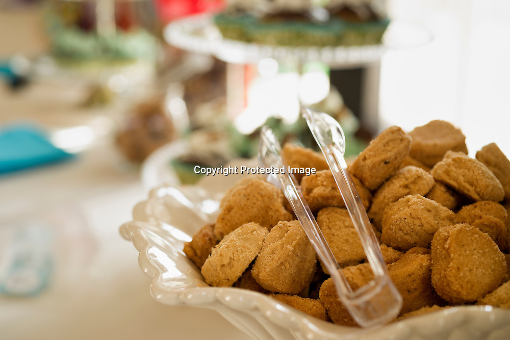 Cookies on a dessert table