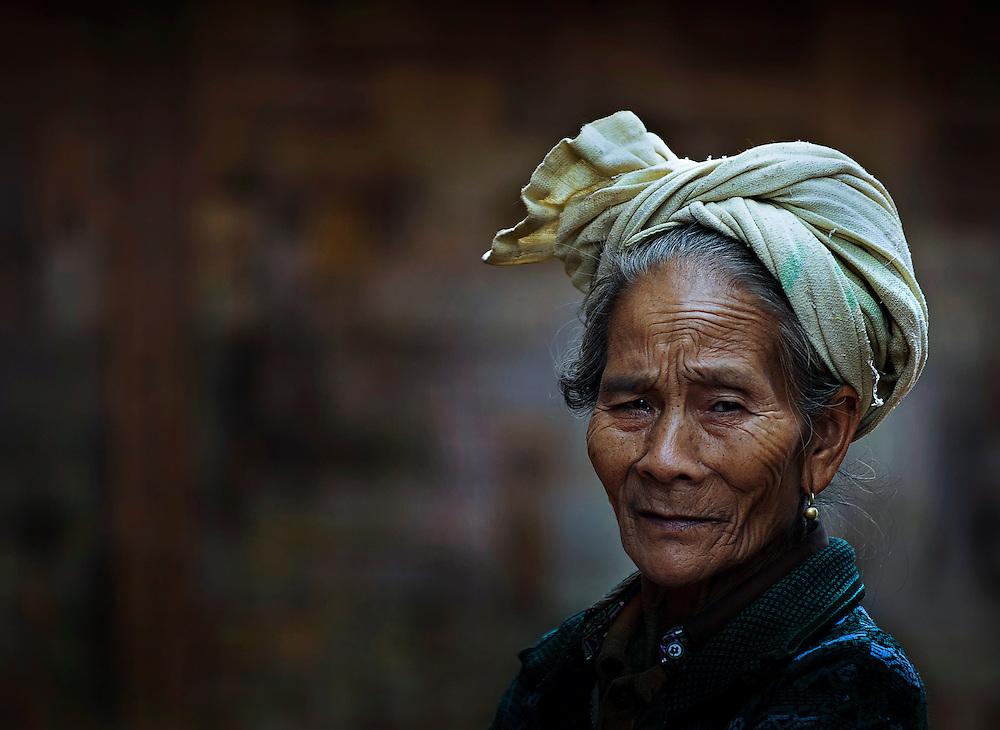 Portrait of a Khamu woman near Luang Prabang, Laos.