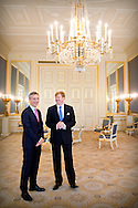24-11- 2014 THE HAGUE - King Willem-Alexander receives Secretary General of NATO Jens Stoltenberg. The World Forum is a meeting of the NATO Parliamentary Assembly . COPYRIGHT ROBIN UTRECHT